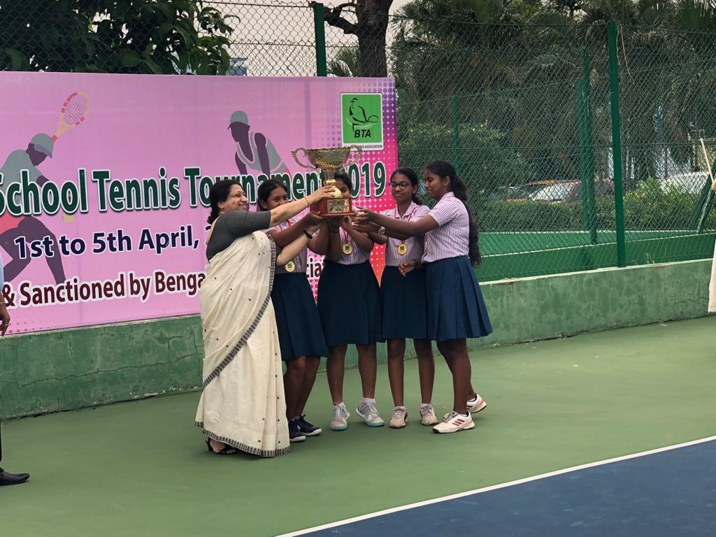 MHS Inter School Tennis Tournament Champions