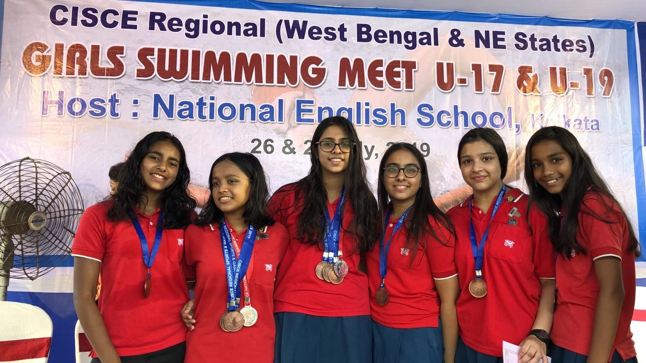 CISCE Swimming Competition for girls U-17 & U - 19